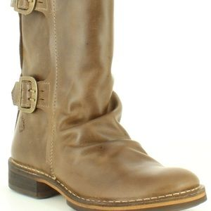 Brown Fly London Buckle Strap Boots